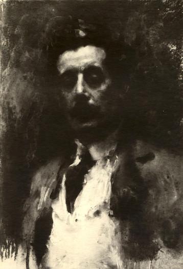 Arturo Rietti, Ritratto di Giacomo Puccini. Roma, Teatro dell'Opera
