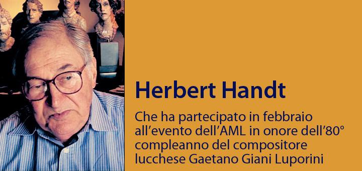 A colloquio con… Herbert Handt