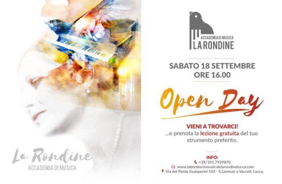 """Un 18 settembre all'insegna della musica: si terrà l'open day dell'Accademia """"La Rondine"""""""